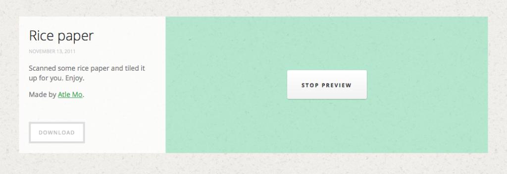 subtlepatternsのWebサイトでpreviewボタン押下後