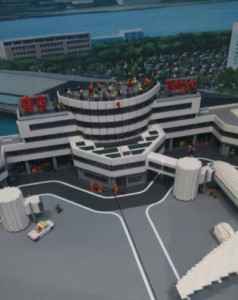 レゴで作られた羽田空港