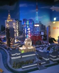 レゴで作られた東京タワー