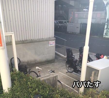 横浜アンパンマンミュージアムの駐輪場