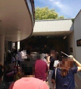 アンパンマンミュージアムの入り口の混雑具合