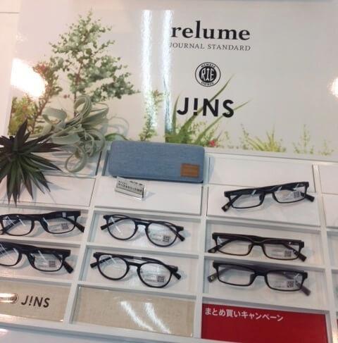 店頭のJINSコラボメガネ_relume
