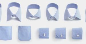 麻布テーラーのパターンオーダーシャツの襟(カラー)、袖、ポケットを選ぶ
