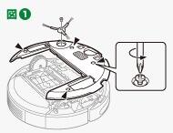 ルンバの500,600シリーズのバッテリー交換方法