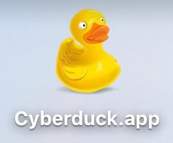 cyberduckのアプリ