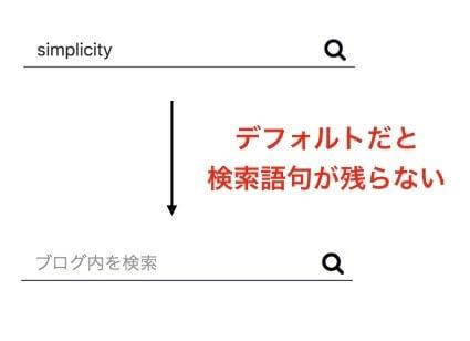 simplicityの検索語句を残すカスタマイズ